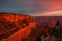 Sunrise at Grand Canyon Stock Images