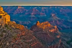 Sunrise in Grand Canyon stock photos