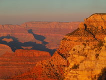 Sunrise, Grand Canyon. Sunrise in the Grand Canyon from the North Rim, Arizona Royalty Free Stock Image