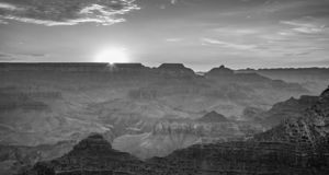 Sunset at the Grand Canyon seen from Desert View Point. Sunrise at Grand Canyon seen from Mathers Point, South rim stock images