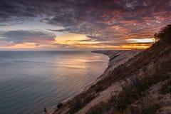 Sunrise at Grand Sable Dunes - Grand Marais, Michigan Royalty Free Stock Photography