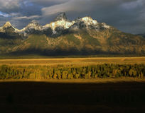Sunrise at Grand Teton Royalty Free Stock Image