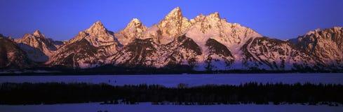 Sunrise on Grand Tetons Royalty Free Stock Photography