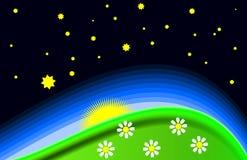 Sunrise graphic Royalty Free Stock Photo