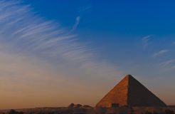 Sunrise at Great Pyramid of Giza Stock Photography