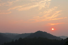 Sunrise at Great Smoky Mountains Royalty Free Stock Photo