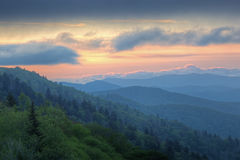 Sunrise Great Smoky Mountains Royalty Free Stock Photography