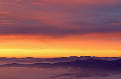 Sunrise Great Smoky Mountains Royalty Free Stock Photos
