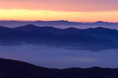 Sunrise Great Smoky Mountains Stock Images