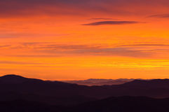 Sunrise Great Smoky Mountains Royalty Free Stock Images