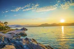 Sunrise Greece stock photos