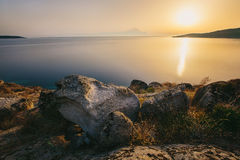 Sunrise in Greece, Halkidiki, Sykia - Europe Stock Photos