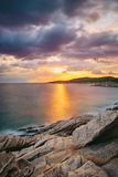 Sunrise in Greece, Halkidiki, Sykia - Europe Royalty Free Stock Photography