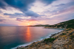 Sunrise in Greece, Halkidiki, Sykia - Europe Stock Photo