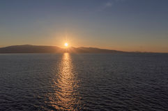 Sunrise in Greece Royalty Free Stock Photography
