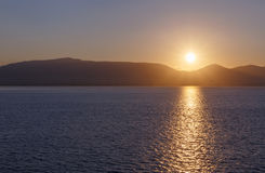 Sunrise in Greece. View on sunrise in Greece Royalty Free Stock Photos
