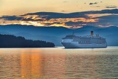 Sunrise in the greek archipelago Stock Image