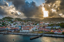 Sunrise in Grenada, Caribbean Royalty Free Stock Image