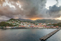 Sunrise in Grenada, Caribbean Stock Photography