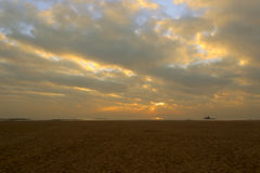 Sunrise of guanyinshan sandy beach Royalty Free Stock Images