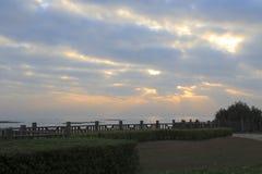 Sunrise of guanyinshan seaside Royalty Free Stock Photography