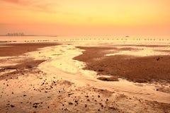 Guanyinshan sand beach dawn, srgb image