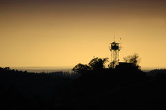 Sunrise Guardhouse Royalty Free Stock Photography