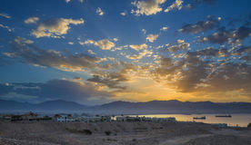 Sunrise at the gulf of Aqaba, Red Sea Royalty Free Stock Image