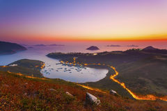Sunrise at gulf in Hong Kong Royalty Free Stock Photography