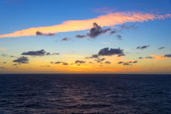 Sunrise on the Gulf of Mexico Royalty Free Stock Photography