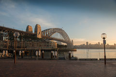 Sunrise at Habour bridge. Stock Image