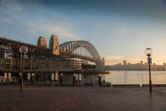 Sunrise at Habour bridge. Stock Image