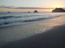 Sunrise at Hahei. Te tare Point.  Sunrise at Hahei beach,  Corromadel peninsula. North island new zealand Royalty Free Stock Photography