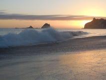 Sunrise at Hahei. Te tare Point.  Sunrise at Hahei beach,  Corromadel peninsula. North island new zealand Stock Images