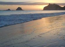 Sunrise at Hahei. Te tare Point.  Sunrise at Hahei beach,  Corromadel peninsula. North island new zealand Royalty Free Stock Photo