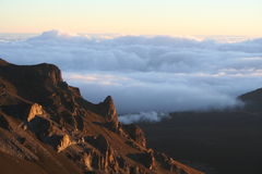 Sunrise at Haleakala Crater Stock Photos
