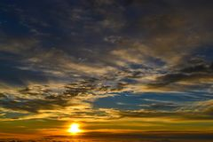 Sunrise At Haleakala stock images