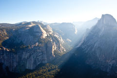 Sunrise At Half Dome in Yosemite Stock Photos