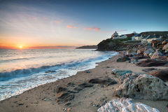 Sunrise at Hallsands in Devon Stock Photography