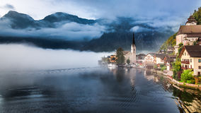 Sunrise in Hallstatt. Austria. Europe Stock Photos