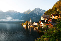 Sunrise in Hallstatt Royalty Free Stock Photography