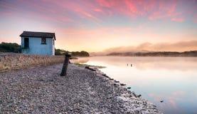 Sunrise at Halton Quay Royalty Free Stock Image