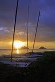 Sunrise in hawaii Stock Photography