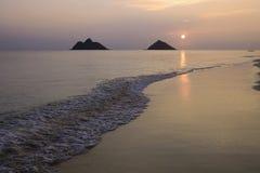 Sunrise in hawaii Stock Photos