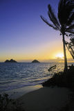 Sunrise in hawaii Royalty Free Stock Photos