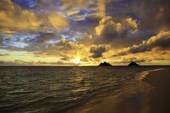 Sunrise in hawaii Royalty Free Stock Image