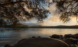 Sunrise from Hawsbury river, NSW Stock Images