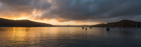 Sunrise from Hawsbury river, NSW Stock Image
