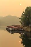 The sunrise in Heilongtan reservoir, chengdu,china Royalty Free Stock Images
