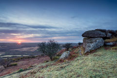 Sunrise at Helman Tor in Cornwall Royalty Free Stock Image